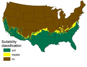 RattlerGator Blog Scare First Think Later The Python Invasion - Us map after global warming