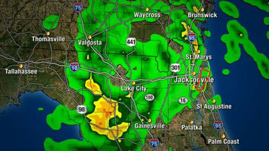 Beryl radar via Channel 4 Jax