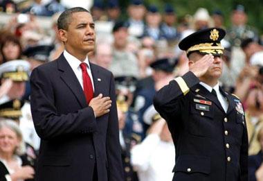 President Obama at Arlington National Cemetery 380px