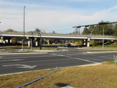 Reconfigured Franklin Street at Cascades Park 380px