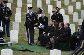 Old Guard Soldier Presents the Flag to Bereaved Family