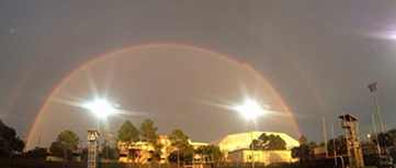 2014 09.02 Double Rainbow Photo in Gainesville courtesy Coach Brian White 380px
