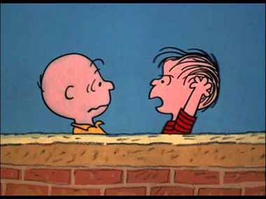 12 Linus the true believer is unrepentant with Charlie Brown the day after_380px